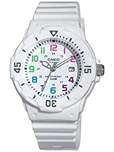 Casio Youth Ladies Women's Blue Dial White Resin Band Watch [LRW-200H-7BV] 100m water resistance