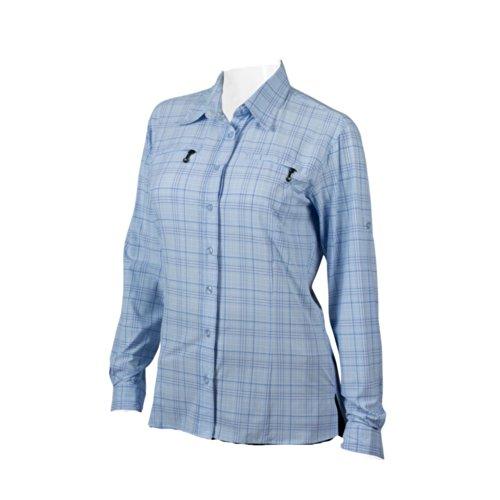 ATD WOMEN'S Urban Pedal Pushers Commuter Dress Shirt SPF 50+ (X-Large, Light Blue)