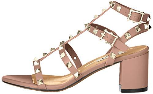 Kaitlyn Pan Studded Block Heel Open Toe