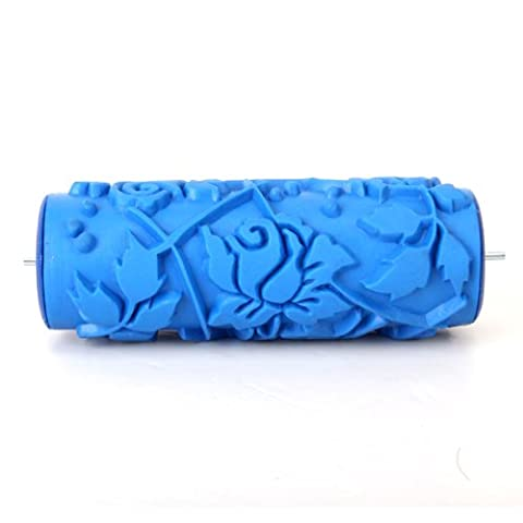 15cm DIY Floral and Dot Pattern Paint Roller for Wall Decoration (Emulsione Di Vernice)