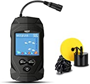 LUCKY Portable Fish Finders Wired Transducer Kayak Fish Finder Kit Portable Depth Finder LCD Display for Kayak