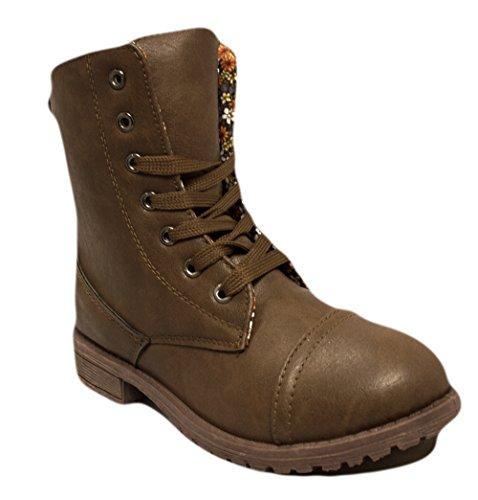 Charles Albert Little Kids Combat Lace Up Boots (1, Cognac)]()