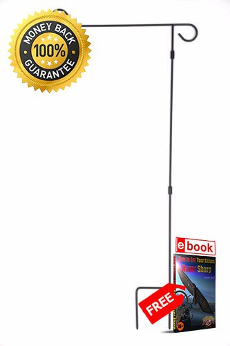 Garden Flag Holder &, Yard Flag Stand HeavyDuty Iron Easy Assembly PREMIUM Vivid Color and UV Fade eBOOK by MOON KNIVES (Flags & Amp ; Banners)