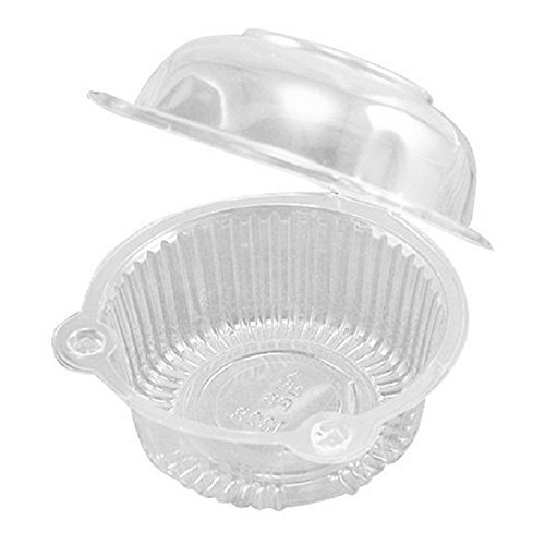 - Leoyoubei 100 pieces Clear Plastic Single Individual Cupcake Muffin Dome Holders Cases Boxes Cups Pods - Clamshell Container Cupcake Holders