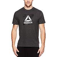 Reebok Men's Graphic Workout Tee - Short Sleeve Gym & Training Activewear T Shirt