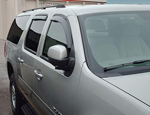 Stampede 41015-2 Smoke Snap-Inz Sidewind Deflector for 2019 Ram 1500 Crew Cab, 4pc Set (Best Gutter Guards 2019)