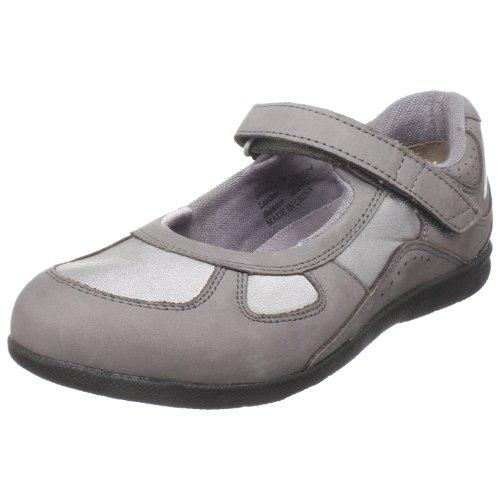 Drew Shoe Women's Delite Mary Jane,Grey Nubuck/Grey Stretch,8.5 W US