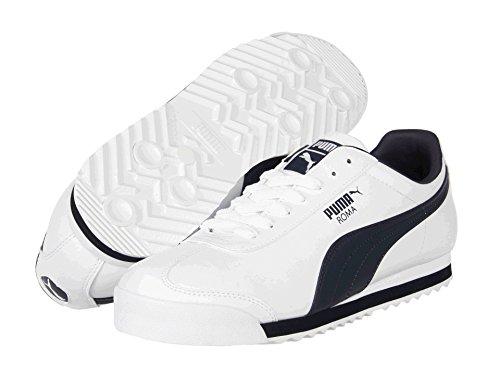 [PUMA(プーマ)] メンズランニングシューズ?スニーカー?靴 Roma Basic White/New Navy 4 (22cm) D - Medium