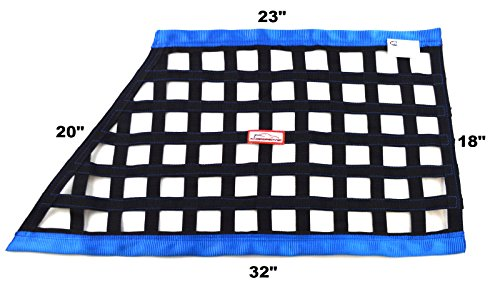 Race NET SFI 27.1 Oblong Ribbon Safety Window NET Black & Blue Racing NET