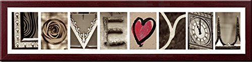 Imagine Letters 8-Opening, White Matted Brown Photo Colla...