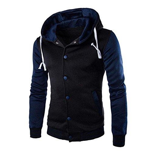 Plus Steam Cleaner Floor (Men Coat Jacket Outwear Serzul Slim Fit Patchwork Button Jacket Coat)
