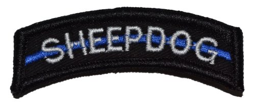 Sheepdog Thin Blue Line Tab Morale Patch - Black