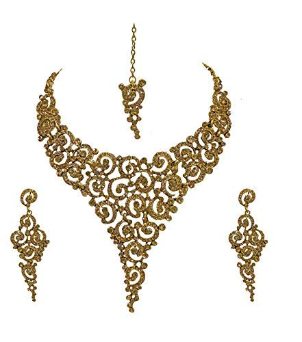 Buy Raaya Gold Plated American Diamond Designer Necklace Jewellery