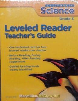leveled reader grade 3 california science teacher s guide rh amazon com Math Teacher Chemistry Teacher