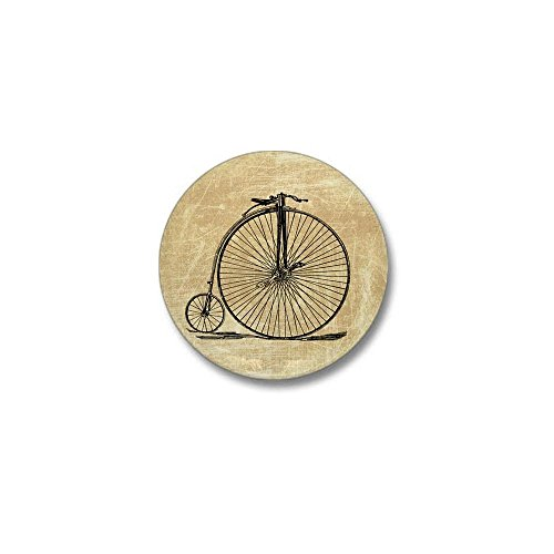 "CafePress Vintage Penny Farthing Bicycle 1"" Round Mini Button"