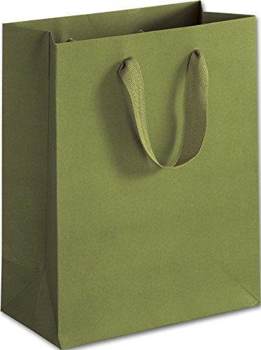 100 Greenwich Green Manhattan Paper Bags Eco Euro-Shoppers 8 x 4 x 10