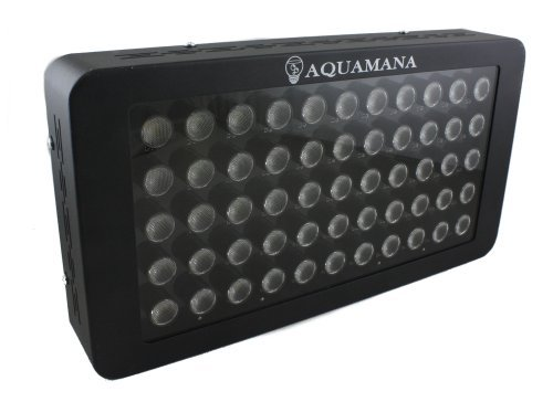 AQUAMANA AQ LED-55x3W Dimmable 165W LED Aquarium Light Panel for Coral, Reef & Fish by Aquamana