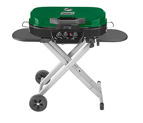 Coleman RoadTrip 285 Portable Stand-Up Propane Grill, Green - Gas Set Grill