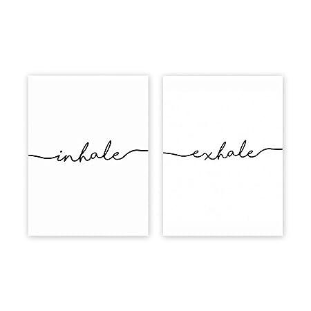 Giow Carteles e Impresiones Pinturas de Letras en Blanco y ...