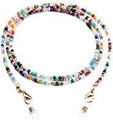 humlbird Mask Lanyard Eyeglasses Chain Healing Crystal Beaded Sunglasses Chains with Pearl for Women