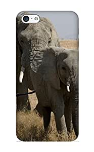 Elizabethshelly Scratch-free Phone Case For Iphone 5c- Retail Packaging - Animal Elephant Elephants Baby Animal Animal