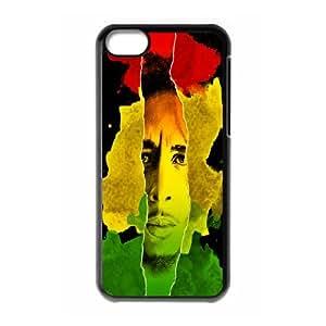 DIY Printed Bob Marley hard plastic case skin cover For iPhone 5C SNQ833220