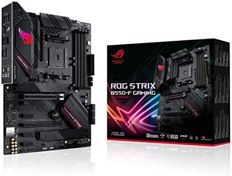 ASUS ROG Strix B550-F Gaming AMD AM4 Zen 3 Ryzen 5000 & third Gen Ryzen ATX Gaming Motherboard (PCIe 4.0, 2.5Gb LAN, BIOS Flashback, HDMI 2.1, Addressable Gen 2 RGB Header and Aura Sync)