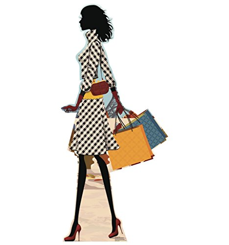 Advanced Graphics Paris Shopper - Paris Party Theme Life Size Cardboard (Paris Shopper)