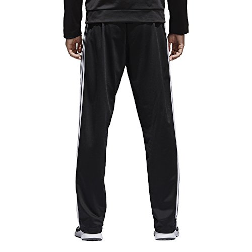 adidas Men's Athletics Essential Tricot 3-Stripe Pants, Black/White, Small by adidas (Image #4)