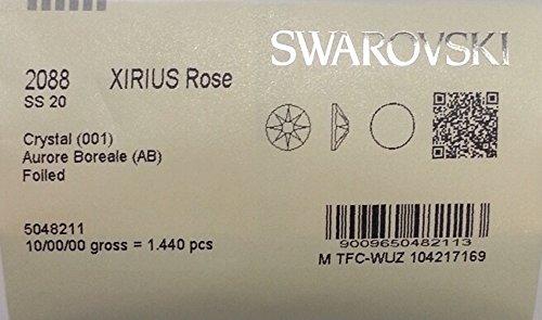 20ss Crystal AB 1440 SWAROVSKI #2088 XIRIUS Rose Flatback Rhinestones Wholesale FULL -