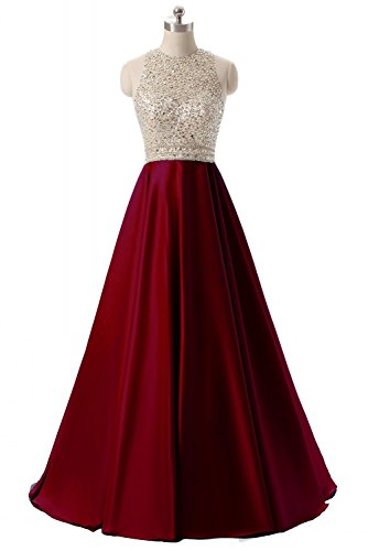 f7eed3899efa HEIMO Women's Sequined Keyhole Back Evening Party Gowns Beaded Formal Prom  Dresses Long H123
