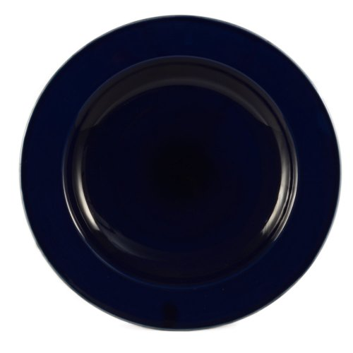 CAC China P-115MUB 22-Ounce Stoneware Round Pasta Bowl, 11-1/2-Inch, Marine Blue, Box of (China 22 Oz Pasta Bowl)