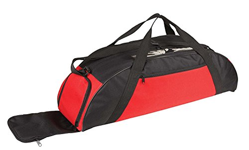 ImpecGear Baseball Equipment Duffle Duffel Bag, Baseball Bags And Packs (Custom Team Logos and Names) (Red)