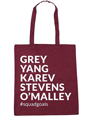 litres Tote Karev Burgundy Grey x38cm Bag 10 Gym squadgoals O'Malley 42cm Yang Beach Stevens Shopping HippoWarehouse pABq61