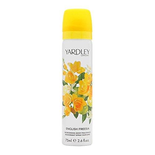 Yardley of London English Freesia 2.6 oz Deodorizing Body Fragrance Spray