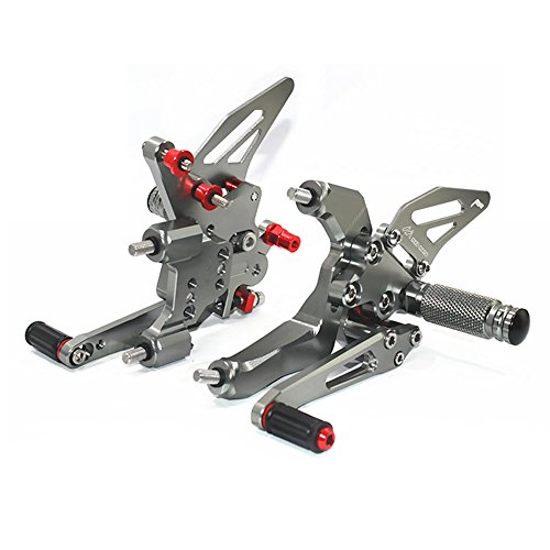 - CNC Motorbike Adjustable Foot Rests for DUCATI 959 2016-2017 Rearset Foot Pegs Rear Set Footrests fit for DUCATI 959 2016-2017 (Titanium)