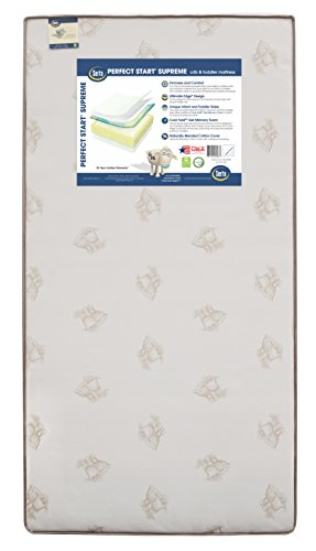 Serta Perfect Start Ultra Innerspring/Foam Crib and Toddler Mattress | Waterproof | GREENGUARD Certified (Natural/Non-Toxic)