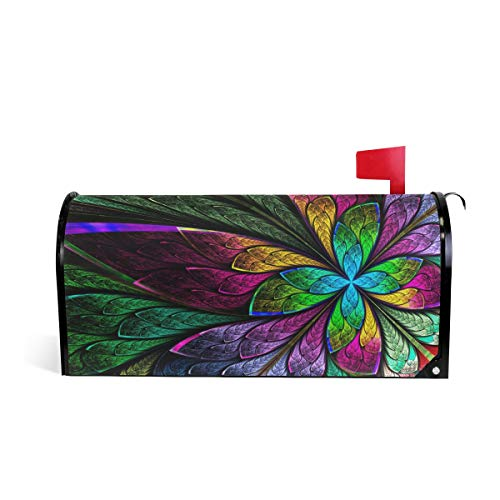 - WOOR Hipster Rainbow Butterfly Magnetic Mailbox Cover MailWraps Garden Yard Home Decor for Outside Standard Size-18