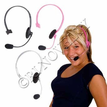 RICA-MICRO (Pink) Pop Star Rapper Headset Prop (Madonna Dress Up Costumes)
