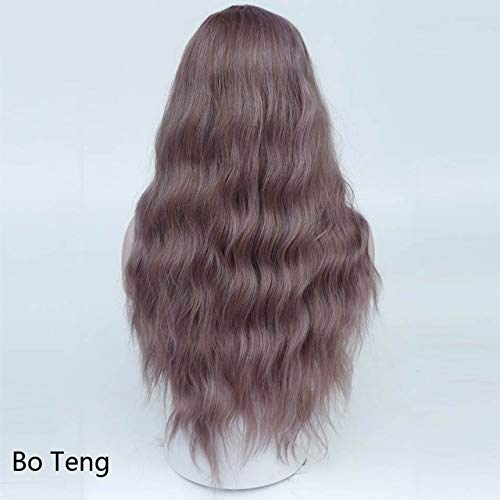 (Kinky Curly Green Blue Pink Cosplay Wigs Women Long Synthetic Hair Costume For)