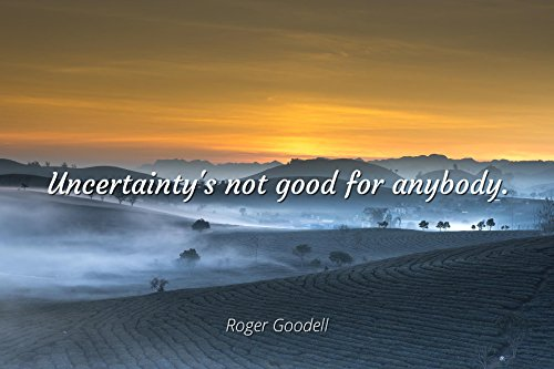 Roger Goodell - Famous Quotes Laminated POSTER PRINT 24x20 - Uncertainty's not good for anybody.