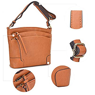 Dasein Women Multi Pockets Crossbody Messenger Bags Shoulder Purses and Satchels Handbags With Tassels