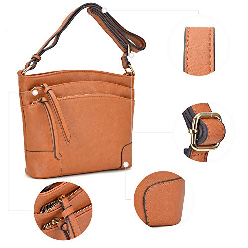 059 Messenger Zipper Classic Medium Pocket black for Functional Women Bag Triple Purses Crossbody Lightweight 7p0wpf