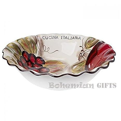 Amazon Com Classic Cucina Italiana Large Ceramic Round Pasta