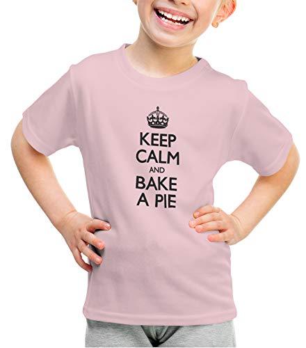 Light Pecan Pie - shirtloco Girls Keep Calm and Bake A Pie Youth T-Shirt, Light Pink Medium