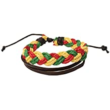 Barbra Collection Rasta Leather Bracelet