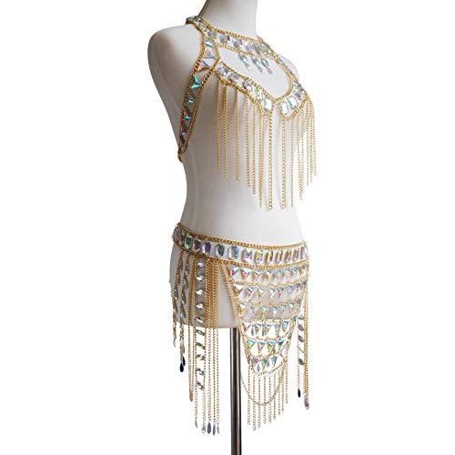 Connie Cloris Women's Sexy Suit Body Chain (Gold Color-A- Body Chain Suit-3) by Connie Cloris (Image #2)