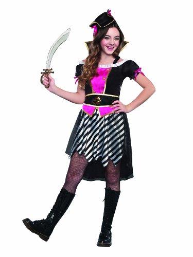 [SugarSugar Pretty Lil' Pirate Costume, Medium] (Cool Pirate Costumes)