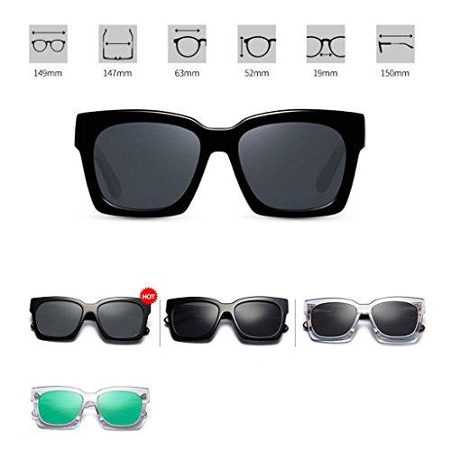 soleil A carrées pour hommes Carrés soleil pour polarisées de vintage de lunettes Lunettes carrée des conduire de lunettes soleil TqR14R