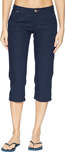 Linen Capri Set - Columbia Women's Harborside Linen Capris Collegiate Navy/Sunset Red 14 20